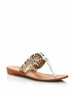 Jack Rodgers Women's Tinsley Demi Wedge Woven Thong Sandals