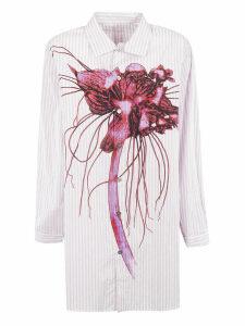 Ys Floral Print Striped Shirt