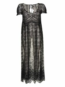 Paco Rabanne Laced All-over Long Dress
