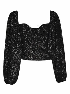The Attico Long-sleeved Sequined Top