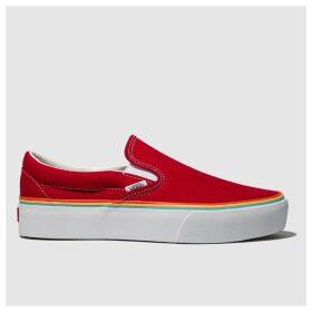 Vans Red Classic Slip Platform Trainers