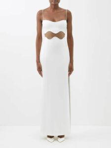 Comme Des Garçons Girl - Gingham Ruffled Cotton Blouse - Womens - Red White