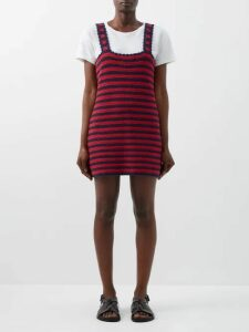 Cecilie Bahnsen - Rikke Cotton Poplin Midi Dress - Womens - Black