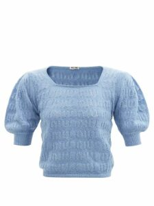 La Fetiche - Nancy Stripe Intarsia Wool Cardigan - Womens - Pink