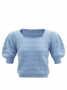 La Fetiche - Nancy Stripe-intarsia Wool Cardigan - Womens - Pink