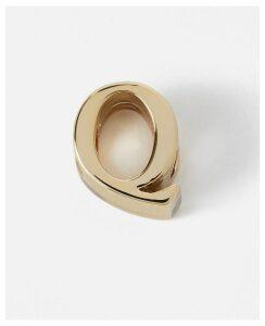 Stella McCartney Gold Q' Alphabet Shoe Charm new, Women's, Size OneSize