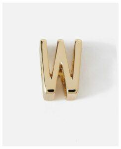 Stella McCartney Gold W' Alphabet Shoe Charm new, Women's, Size OneSize