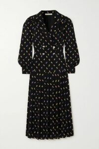 Veronica Beard - Carta Embroidered Silk-blend Blouse - Black