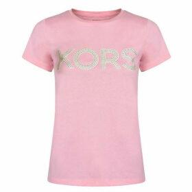 MICHAEL Michael Kors Studded Logo T Shirt