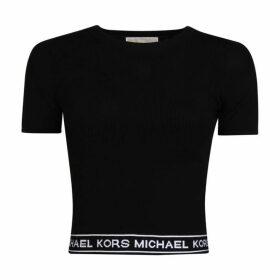 MICHAEL Michael Kors Logo Tape Crop Top