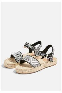 Womens Dora Monochrome Espadrille Sandals - Monochrome, Monochrome