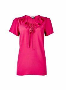 Womens Billie & Blossom Tall Pink Ruffle Blosue, Pink