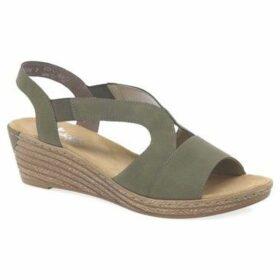 Rieker  Newry Womens Wedge Heel Sandals  women's Sandals in Green