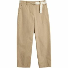 On Parle De Vous  Straight Chinos  women's Trousers in Beige
