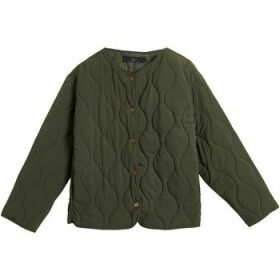 On Parle De Vous  Quilted jacket with fancy stitching  women's Jacket in Green