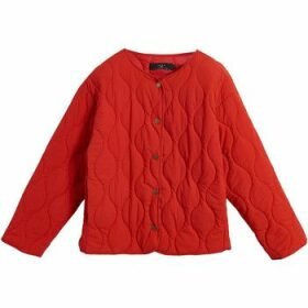 On Parle De Vous  Quilted jacket with fancy stitching  women's Jacket in Red