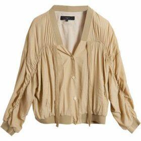 On Parle De Vous  Bamboo fiber bomber jacket  women's Jacket in Beige