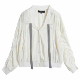 On Parle De Vous  Bamboo fiber bomber jacket  women's Jacket in White