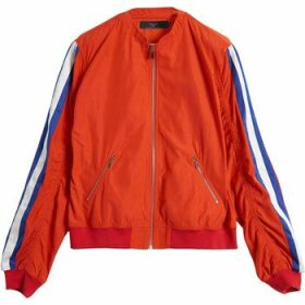 On Parle De Vous  Bomber contrasting stripes  women's Jacket in Red