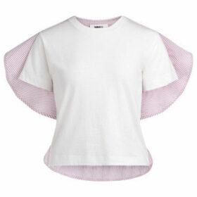 Mm6 Maison Margiela  white striped t-shirt  women's T shirt in Other