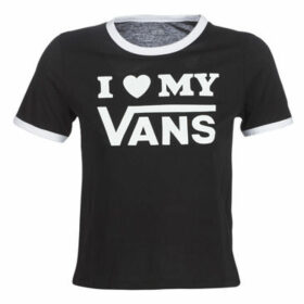 Vans  VANS LOVE RINGER  women's T shirt in Black