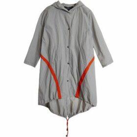 On Parle De Vous  Windbreak contrast band  women's Coat in Grey