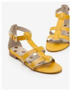Eva Gladiator Sandals Yellow Women Boden, Yellow