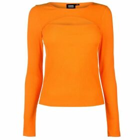 Dr Denim Taj Long Sleeve Top - Off Grid Orange