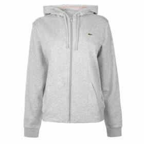 Lacoste Logo Zip Hoodie - Silver/Pink