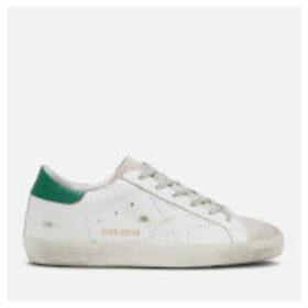 Golden Goose Deluxe Brand Women's Superstar Trainers - White Green Skate
