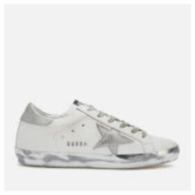 Golden Goose Deluxe Brand Women's Superstar Trainers - White/Silver Star Sparkle