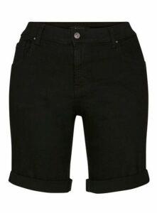 Black Denim Shorts, Black