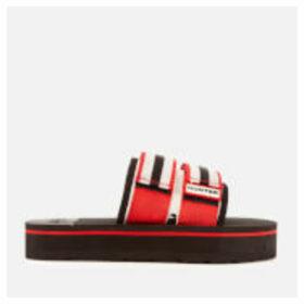 Hunter Women's Original Beach Flatform Slide Sandals - Hunter Red/Hunter White/Black - UK 8 - Red