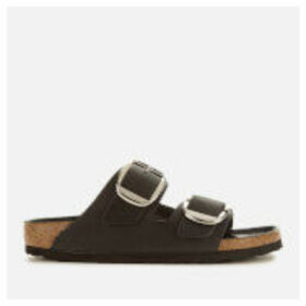 Birkenstock Women's Arizona Big Buckle Oiled Leather Double Strap Sandals - Black - EU 41/UK 7.5
