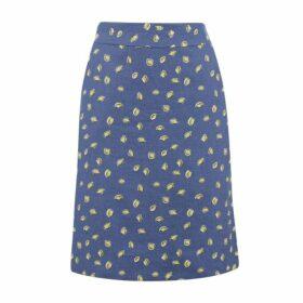 Lemon Drop Linen A Line Skirt