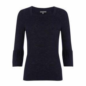 Navy Square Neck Jumper
