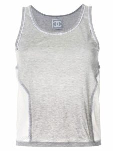 Chanel Pre-Owned scoop neck tank top - Grey