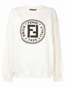 Fendi Pre-Owned FF logo print sweatshirt - White