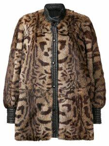 A.N.G.E.L.O. Vintage Cult leopard print fur coat - Brown