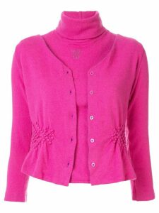 Fendi Pre-Owned hybrid cardigan-jumper - PURPLE