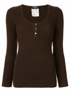 Chanel Pre-Owned longsleeve sweater knit top - Brown