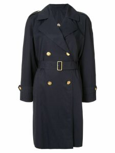 Burberry Pre-Owned longsleeve coat jacket - Blue