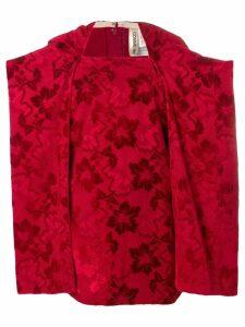Comme Des Garçons Pre-Owned 1996's jacquard blouse - Red