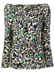 Versace Pre-Owned 1990's Arabesque print blouse - Black