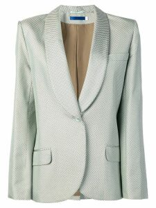 Givenchy Pre-Owned micro print tuxedo jacket - Green