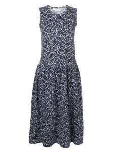 Comme Des Garçons Pre-Owned patterned flared dress - Blue