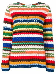 Comme Des Garçons Pre-Owned striped jumper - Blue