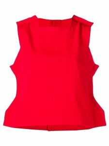 Comme Des Garçons Pre-Owned sleeveless flat top - Red