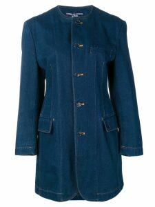 Comme Des Garçons Pre-Owned 1980's denim midi coat - Blue