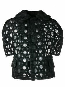 Comme Des Garçons Pre-Owned embroidered sheer jacket - Black